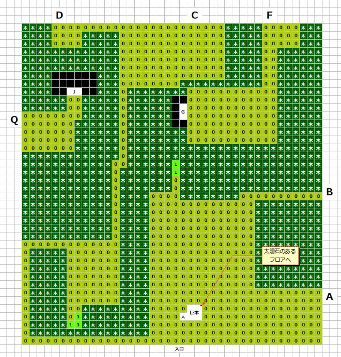 グリンメイズの森(南)MAP