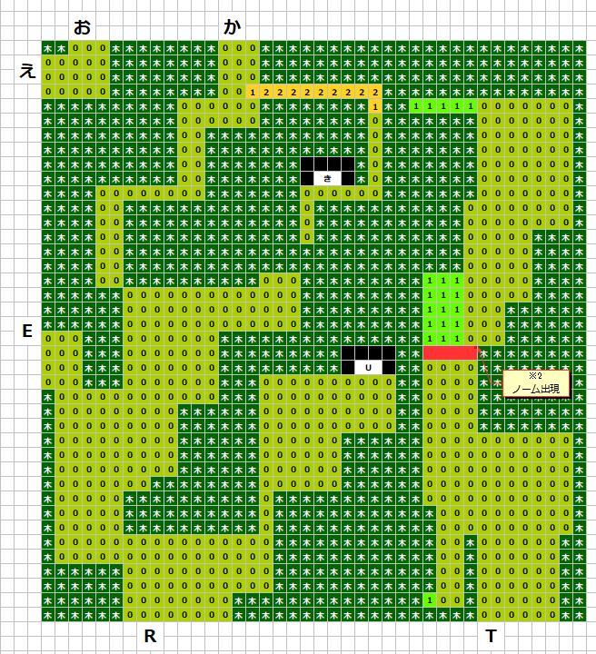 グリンメイズの森(東)MAP