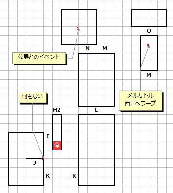 山頂の洞窟(終盤)MAP