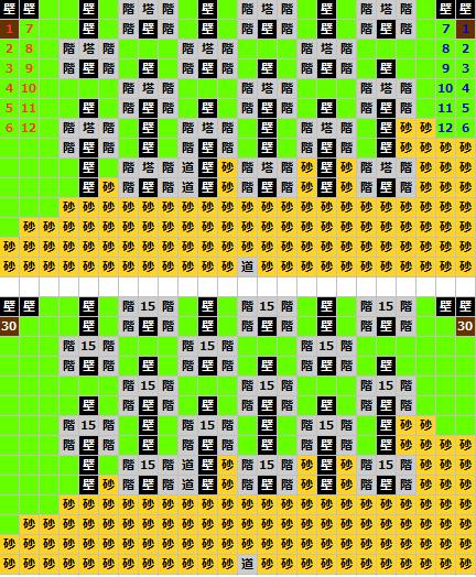 砂漠の長城マップ(ティアリングサーガ)